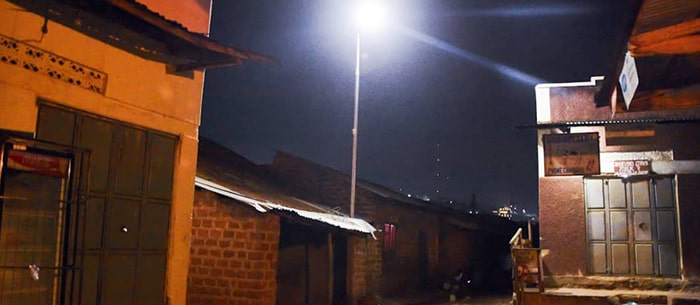 Dembe installs solar street lighting in Kampala slum