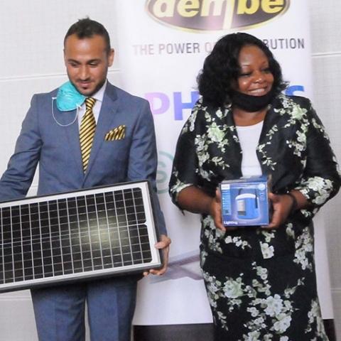 Dembe donates $265,000 worth of solar street lighting