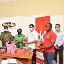 Dembe Group & DKT International make a donation of condoms worth UGX 2 Billion (USD $550,000) to the Uganda Peoples' Defence Forces (UPDF).
